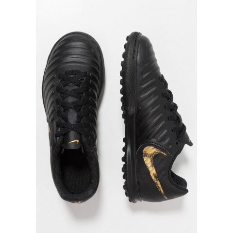 Nike TIEMPO LEGENDX 7 CLUB TF - Chaussures de foot multicrampons black/metallic vivid gold pas cher