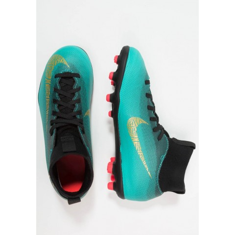 Nike CLUB CR7 MG - Chaussures de foot à crampons clear jade/metallic vivid gold/black/hyper turquoise/solar red pas cher