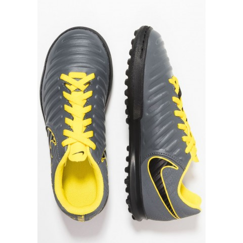 Nike TIEMPO LEGENDX 7 CLUB TF - Chaussures de foot multicrampons dark grey/black/opti yellow pas cher