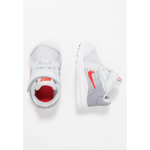 Nike DOWNSHIFTER  - Chaussures de running neutres - pure platinum/habanero red/stealth pure platinum/habanero red/stealth-black pas cher